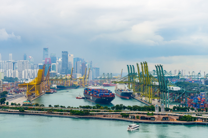 The Port of Singapore is the world's busiest transshipment port