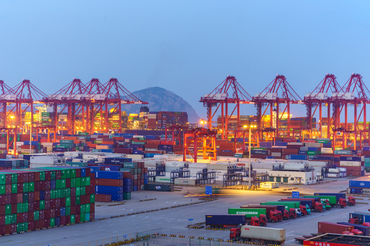 The Port of Shanghai is the world's second busiest transshipment port