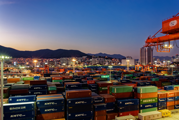 The Port of Busan is the world's fourth busiest transshipment port