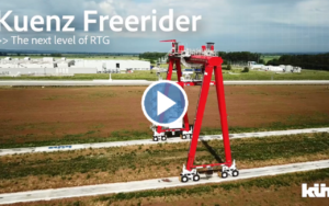Kuenz Reveals Freerider RTG - Wheeled Automation