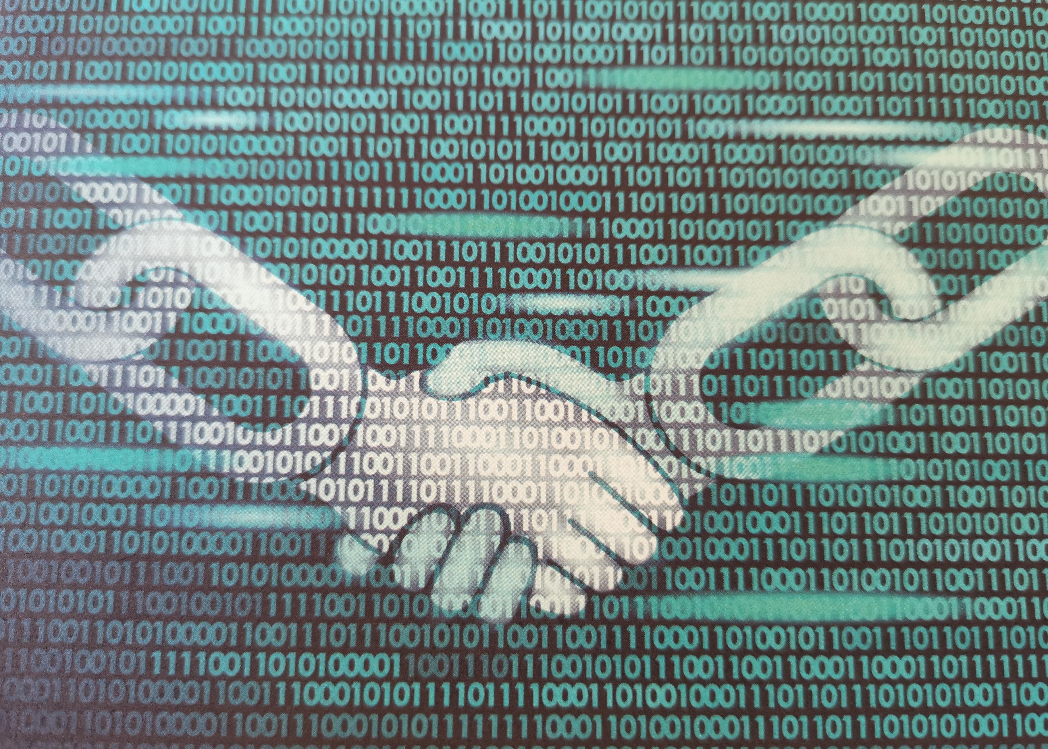 smart contract concept in blockchain