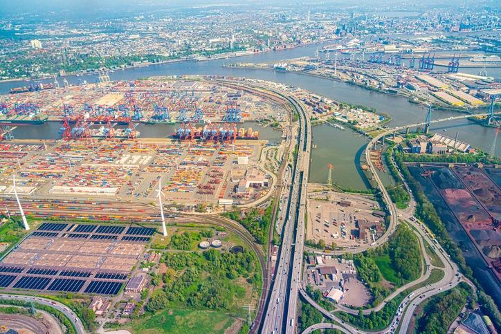 Hamburg,elbe,hafen,Luftbild