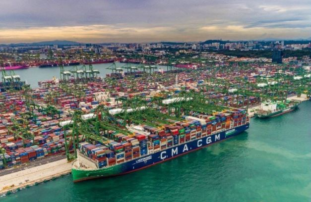 CMA CGM has broken the vessel utilisation record at the Port of Singapore