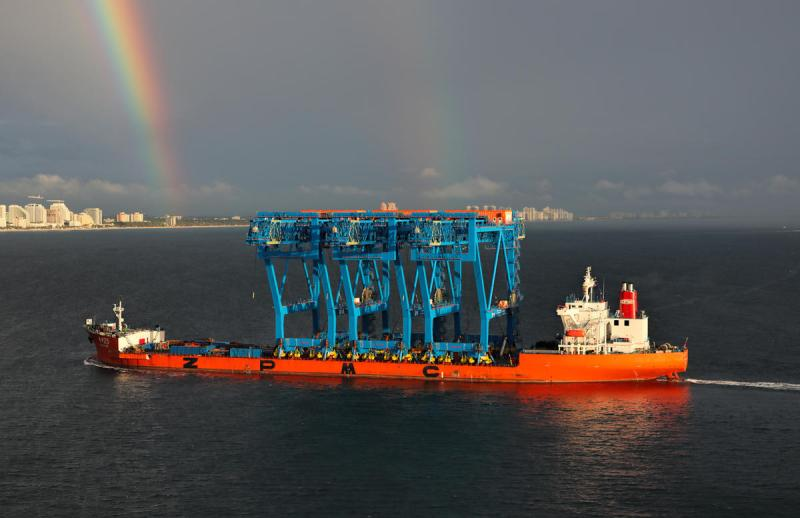 Port Everglades receives cranes as part of upgrade