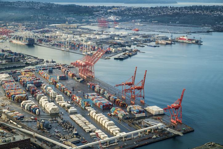 US ports see record imports