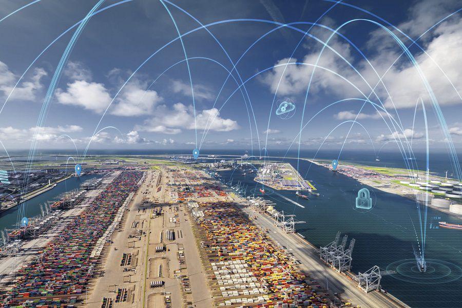 Port of Rotterdam with Port Xchange overlay