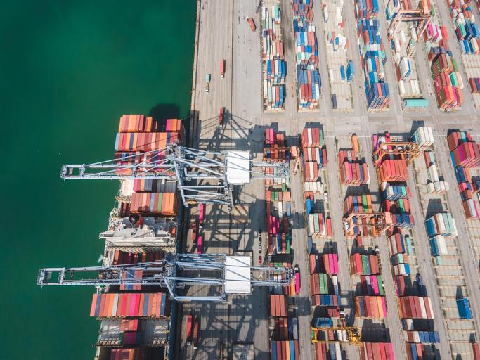 Import export e-commerce business stock photo
