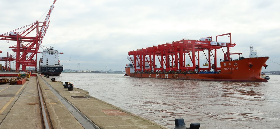 CRMG ZPMC cranes at the Port of Liverpool