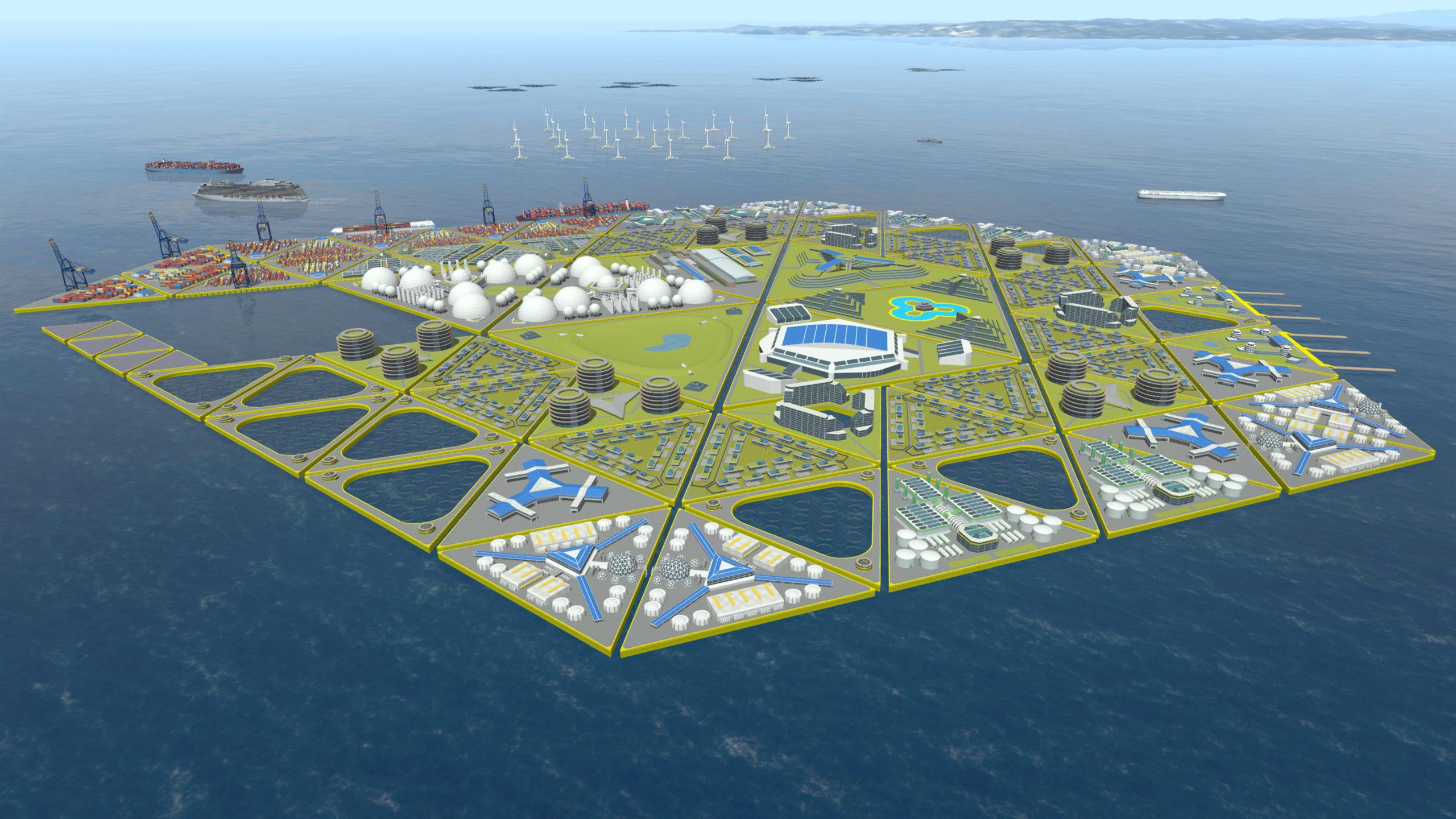 Eiland flexible port