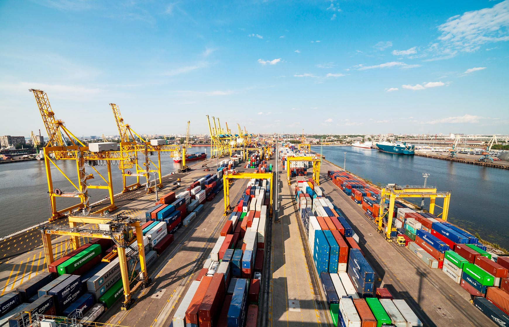First Container Terminal (FCT) is located in the harbor of the Port of St. Petersburg