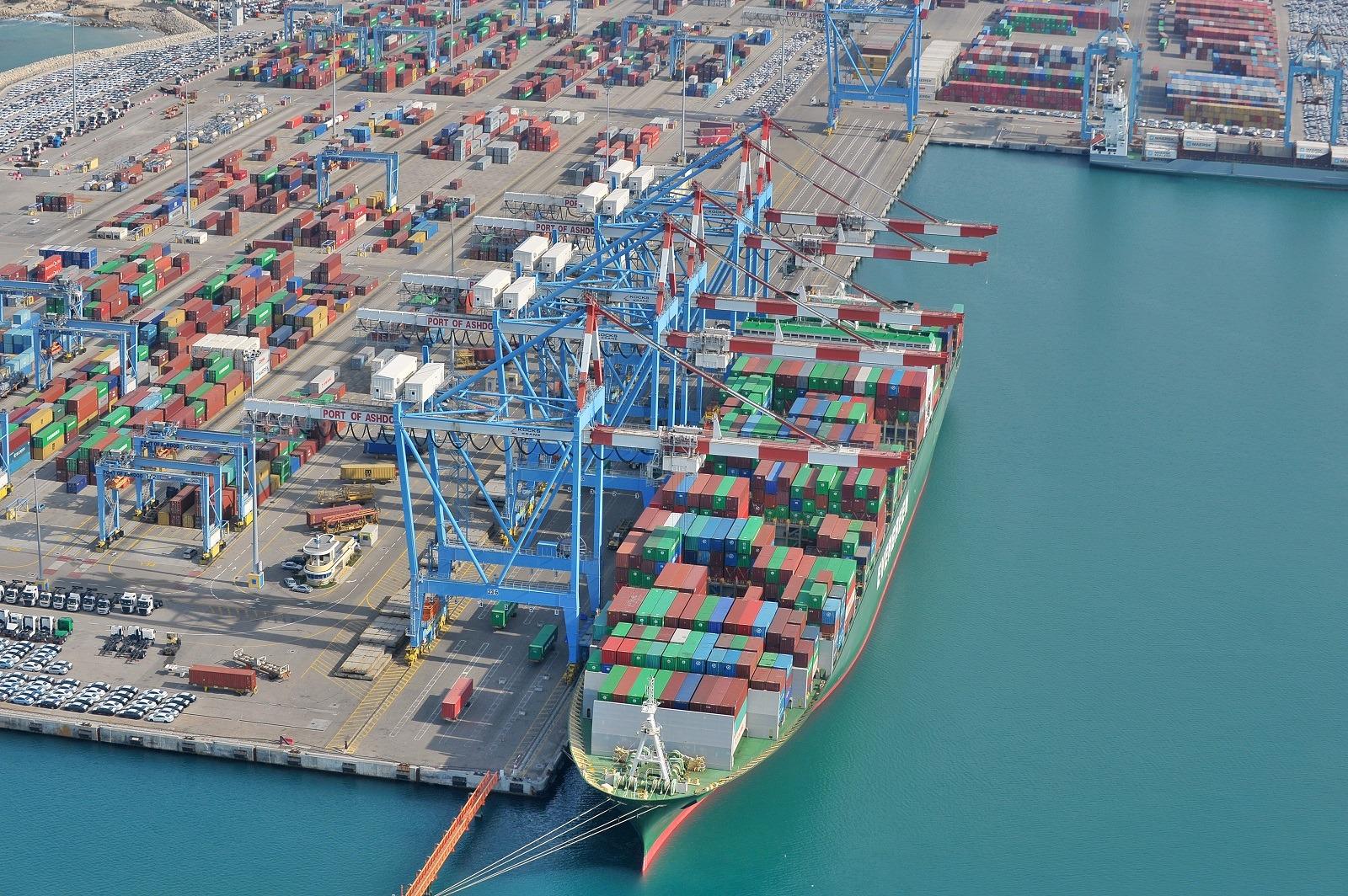 Aerial view Ashdod port