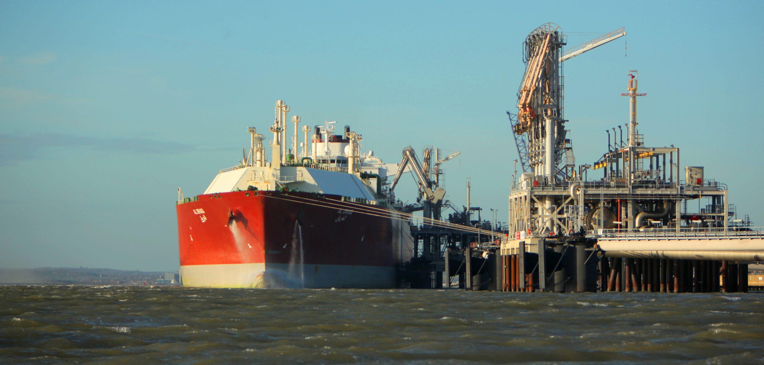 Large vessel at dock