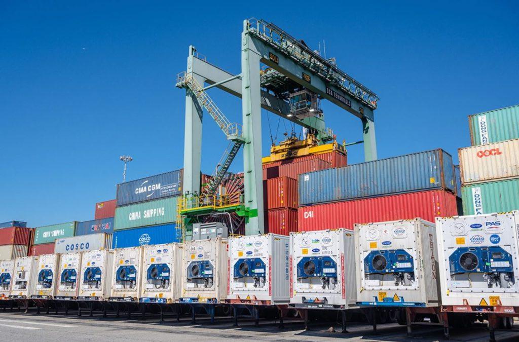 Port of Long Beach electric RTG