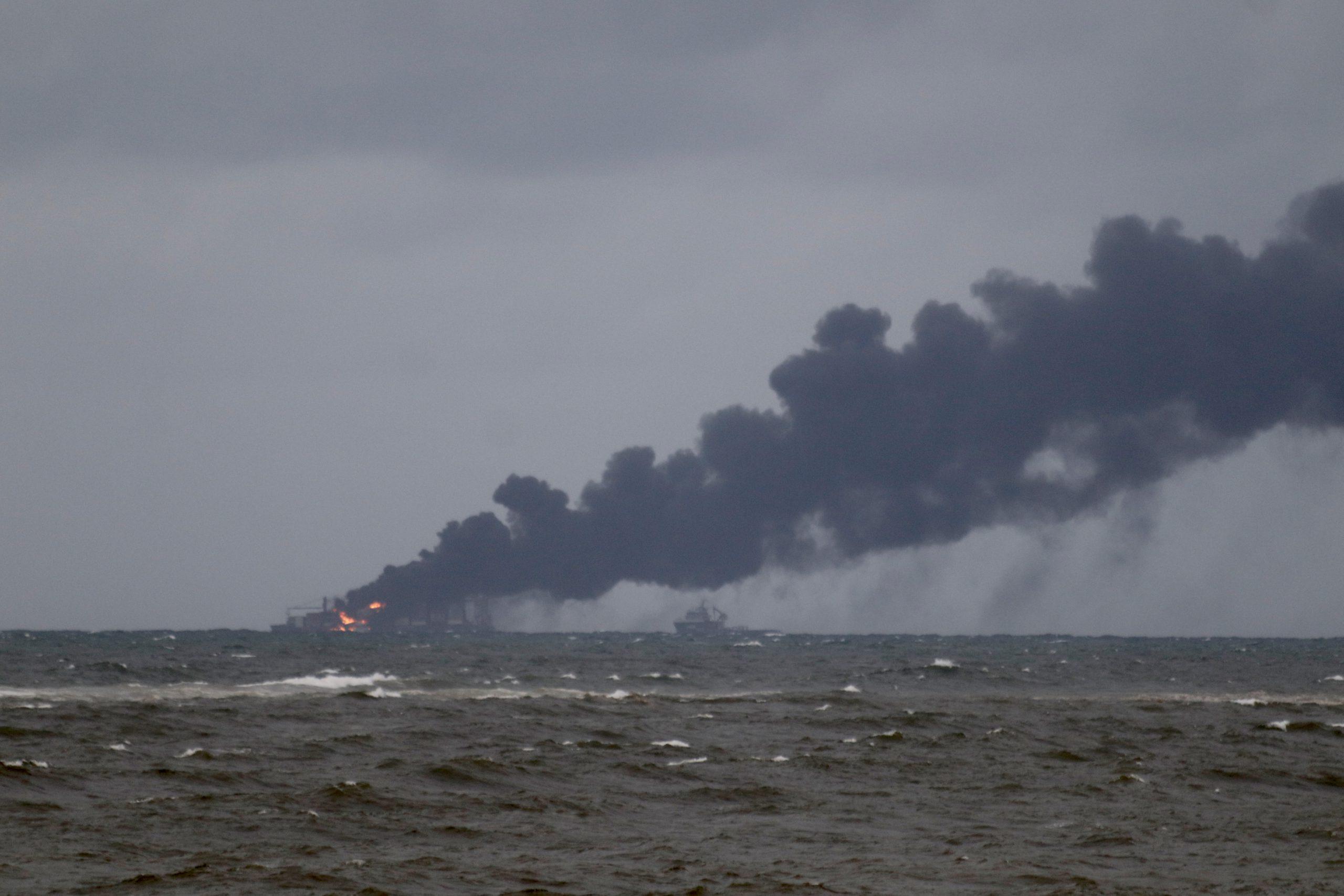 Chemical Fire on the X-Press Pearl off the coast of Sri Lanka