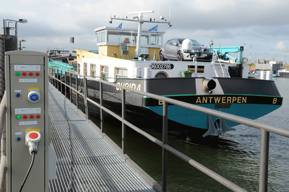 charging station at the port of antwerp