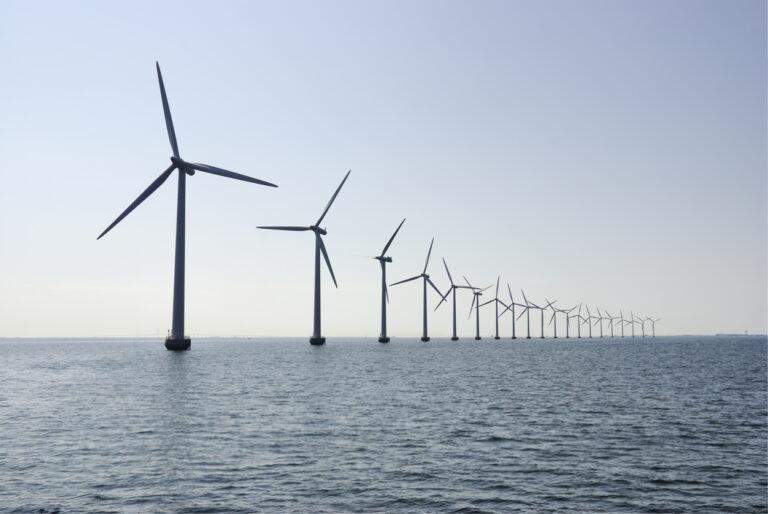 Wind turbines in the ocean outside Copenhagen, horizontal