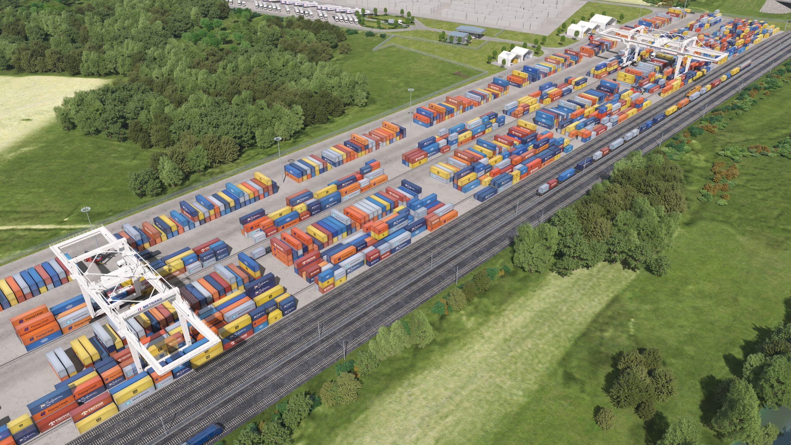 Animation des neu zu bauenden Metrans Hub-Terminals Zalaegerszeg, Ungarn