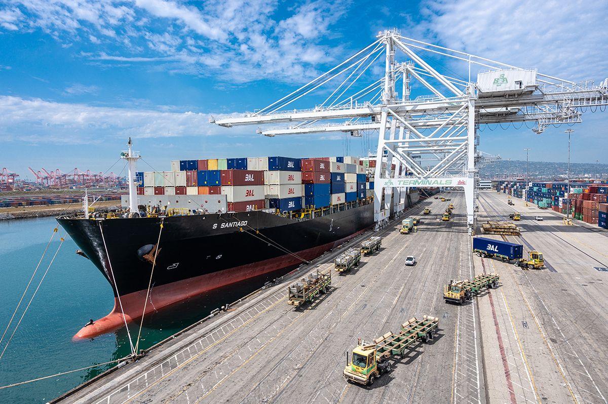 Vessel at Port of Long Beach