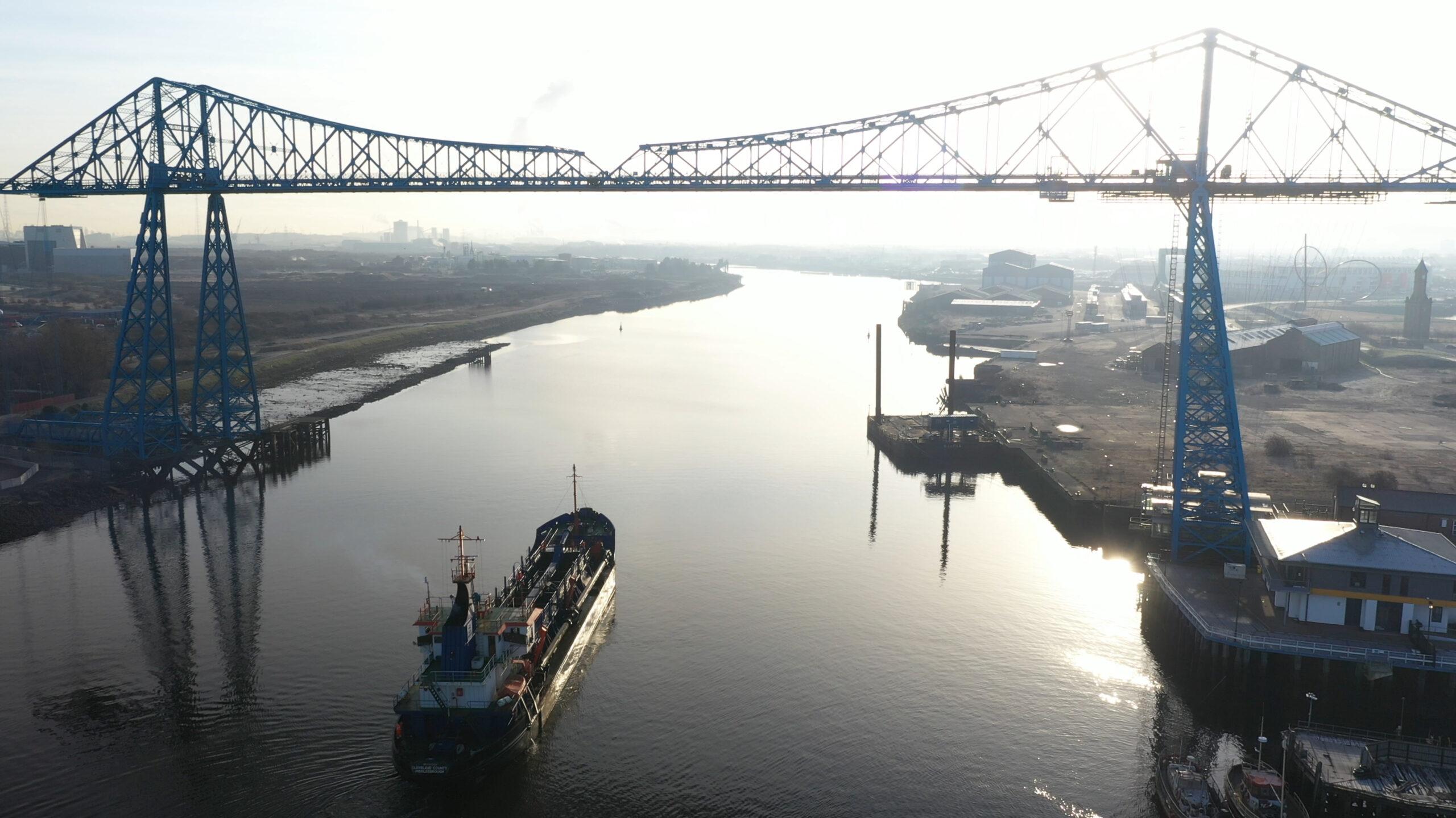 Dredger on River Tees